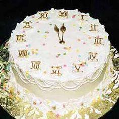 New Year's Eve Cake. Strike at midnight!