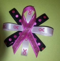Breast cancer awareness hairbow