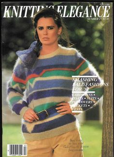 Knitting Elegance #2 Vintage Patterns 1980s Style Ladies Sweaters Vest Cardigans