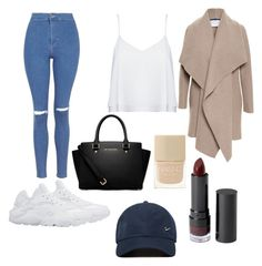 """""""college"""" by shanteltm678 ❤ liked on Polyvore featuring NIKE, Topshop, MICHAEL Michael Kors, Harris Wharf London, Alice + Olivia, Monki and Nails Inc."""