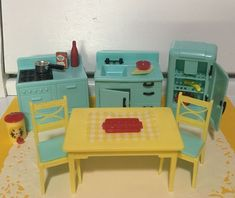 Furniture O Fallon Il Refferal: 3998285258 Fast Furniture, Furniture Removal, Sofa Furniture, Kitchen Furniture, Miniature Dollhouse Furniture, Vintage Dollhouse, Dollhouse Miniatures, Aqua Kitchen, Kitchen Sets