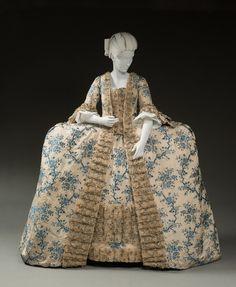 Robe à la française, 1765-70 From Historic Deerfield