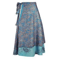 With two full layers of flowing silk, these skirts are also reversible, offering even more inimitable fashion options! Wear this gorgeous piece of fashion art as a wrap skirt, dress, or top. With many different easy-to-create looks and ways to wear it, this versatile hippie skirt truly is magic!  $18.00