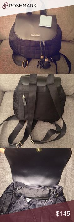 NWT Calvin Klein Backpack Brand New with tags. Black Calvin Klein backpack/purse with adjustable straps and gold hardware. SO CUTE. 😍 Calvin Klein Bags Backpacks