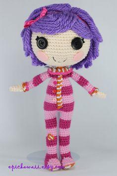 PATRÓN: Almohada Crochet Amigurumi muñeca por epickawaii en Etsy
