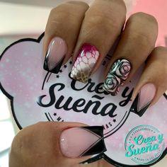 Shellac, Nail Inspo, Nail Designs, Nail Polish, Nails, Flamingo Nails, Green Nail, Classy Nails, Nail Art