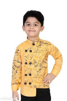 Checkout this latest Shirts Product Name: *Kid's Boy's Shirt* Fabric: Cotton Sleeve Length: Long Sleeves Pattern: Printed Multipack: 1 Sizes:  5-6 Years Country of Origin: India Easy Returns Available In Case Of Any Issue   Catalog Rating: ★4 (826)  Catalog Name: Fabulous Kid'S Boy'S Shirts Vol 11 CatalogID_380086 C59-SC1174 Code: 834-2800206-309