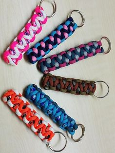 Paracord modified caged solomon bar keychain.