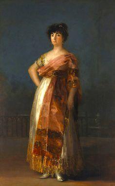 Francisco Goya, La Tirana Oil on canvas, 1799 81 x 51 1/8 inches (206 x 130 cm) on ArtStack #francisco-goya #art