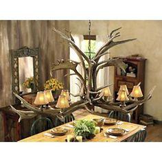 Rustic Lighting for Dining Room Elegant Majestic Antler Chandelier Rustic Light Fixtures, Dining Room Light Fixtures, Dining Room Lighting, Rustic Lighting, Lighting Ideas, Antler Lights, Antler Chandelier, Chandelier For Sale, Chandeliers