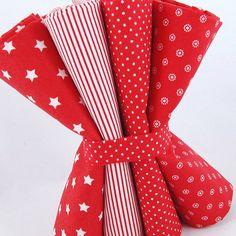 Stars and Stripes Fat quarter fabric bundle by fabricsandfrills
