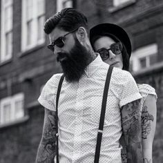 @roque 80 & @leneed. Valentine's special. A day for beards and babes. #beard #beardgang #beards #beardeddragon #bearded #beardlife #beardporn #beardie #beardlover #beardedmen #model #blackandwhite #beardsinblackandwhite #style #tattoos #beardsandtats #instaink #inked #ink 📷 @giulioaprin Please all follow @thebeardmag, an online beard magazine dedicated to Lifestyle and Grooming features, plus much more! Launching soon!