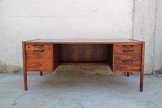 Image of Jens Risom Walnut Executive Desk