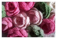 Perfect crochet roses - blog post with link is http://fitzbirch.blogspot.com.au/2012/11/knitted-door-stop.html#.UTCg6KGSBXc