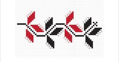Cross Stitch Borders, Simple Cross Stitch, Cross Stitch Designs, Le Point, Hama Beads, Beading Patterns, Pixel Art, Poppies, Diy And Crafts