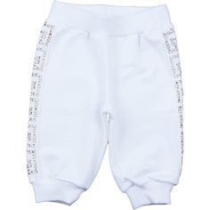 Young Versace Baby Girls White Gold Studded Jersey Bottoms ($155) ❤ liked on Polyvore featuring baby, baby clothes, kids, baby girl and babies.