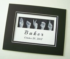 ASL Sign Language Letters NAME  and Wedding by LoveLettersbyEmily, $22.00