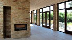 Ny villa i Farum Outdoor Spaces, Facade, House Plans, Villa, Interiors, Architecture, Red, Inspiration, Design