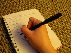 Writing with lists-- a good way to get the creative juices flowing!