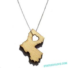 Louisiana Necklace by StatesOfLove on Etsy, $30.00