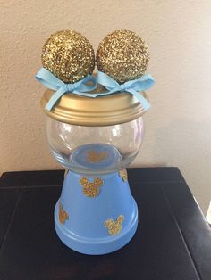 Please check my current production time before making your purchase. https://www.etsy.com/shop/AlyssaAndMeCrafts ************************ Leave your event date in a note at checkout. Are you planning a Minnie or Mickey Mouse themed party? Well, This super cute faux Minnie Mouse gumball machine would be perfect. It could be used as a centerpiece, favor or filled with candy and added to a desert table.  This listing is for 1 gumball machine.  This piece is hand painted and e...
