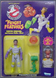 Kenner The Real Ghostbusters Fright Features: Winston Zeddmore 1989 Ghostbusters Birthday Party, Ghostbusters Toys, The Real Ghostbusters, Retro Toys, Vintage Toys, Childhood Toys, Childhood Memories, Celebrity Barbie Dolls, Hollywood Monsters