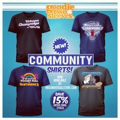 Check out the new Community shirts we did for NBC. Save 15% upon checkout when using the code 2for44!  @nbccommunity  @nbcstore