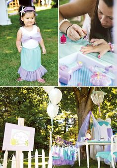 @Lauren Chamberlin check out this little mermaid birthday party! some of these ideas are genius and super easy. others not so easy. but the sand dollar oreos and the starfish brownies and such are sooo cute!