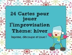 Improvisation - 24 scénarios d'hiver (par Mme Jones) Drama Activities, Activities For Kids, Teaching Themes, Teaching Resources, Communication Orale, Drama Education, Core French, Cycle 3, Months In A Year