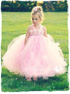 On Sale Pink Flower Girl Dress Pink Tutu Dress Pink Tulle