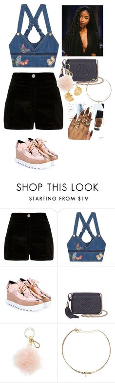 """Untitled #231"" by sierralynna ❤ liked on Polyvore featuring River Island, Valentino, STELLA McCARTNEY, Gucci, MICHAEL Michael Kors, MANGO and Alex Monroe"