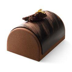 LA BUCHE DE NOËL [Mousse de chocolat au lait noir ou blanc]   Pierre Marcolini