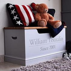 Personalised Toy Box Or Storage Chest - Give a Christening gift that shows they…