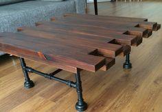 Jean Enrech desing mesa de centro madera tuberia sostenible handmade