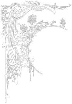 New Art Nouveau Border Design Ideas Ideas Motifs Art Nouveau, Art Nouveau Mucha, Design Art Nouveau, Motif Art Deco, Art Nouveau Pattern, Pattern Art, Pattern Design, Art Nouveau Tattoo, Illustration Art Nouveau