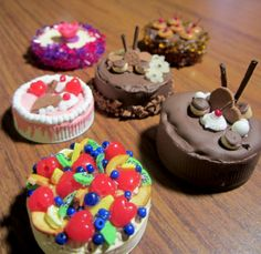 Miniature Cakes (made from recycled water bottle caps)