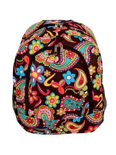 $13.75 Whimsical Wonderland Large Backpack with Brown Trim