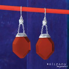 COLOR CRUSH: Spice Up your style! #Silpada One in a Vermilion Earrings
