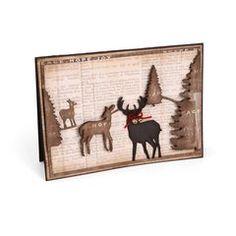 'Peace, Hope, Love' Reindeer Card by Wendy Cuskey
