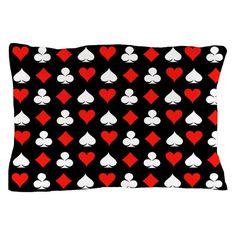 Poker Symbols Pillow Case on CafePress.com