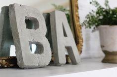 Concrete letters (easy DIY instructions)