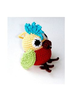 Rattles & Teething Toys – Parrot toy. Baby. Rattle – a unique product by MiracleFromThreads on DaWanda
