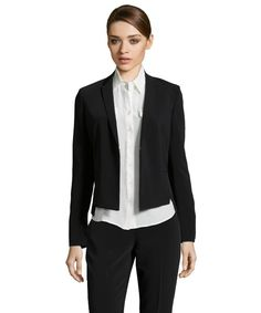 Tahari black stretch woven 'Lindley' blazer White Tux Jacket, Suit Jacket, Breast, Blazer, Suits, Jackets, Fashion Design, Down Jackets, Outfits