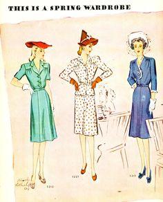 1943 Spring and Summer Wardrobe - McCalls Magazine