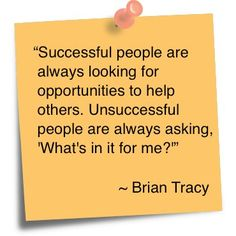 Successful people are...