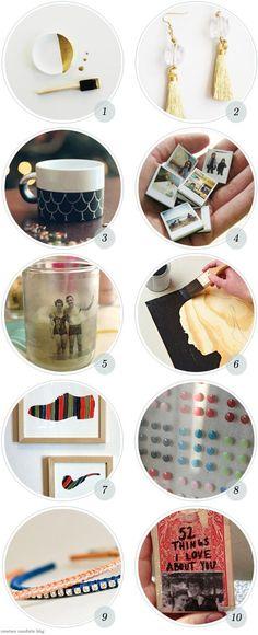 10 Last minute easy DIY gift ideas via @Ez   http://diyaiden.blogspot.com