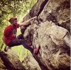 Beth snapped this great shot while bouldering in Lincoln Woods, RI. Great Shots, Rock Climbing, Bouldering, Ems, Lincoln, Bodies, Woods, Sports, Travel