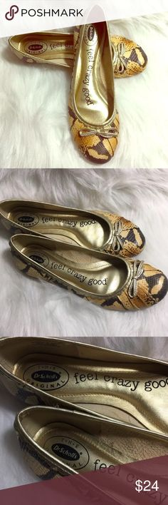Dr. Scholls Snake Print Crazy Feel Good Flats Dr. Scholls Snake Print Crazy Feel Good Ballet Flats Size 6.5M Dr. Scholl's Shoes Flats & Loafers