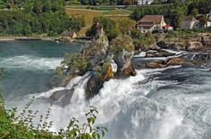 Neuhausen am Rheinfall (Kanton Schaffhausen) - Rhine falls / Rheinfall / Chutes du Rhin Travel Around Europe, Winterthur, Switzerland, Kanton, River, Outdoor, Board, Europe, Travel