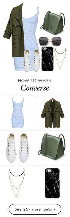 """Untitled #1321"" by jasloves5sos on Polyvore featuring Velvet by Graham & Spencer, Converse and Recover"